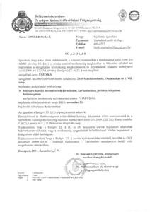 Országos Katasztrfavédelmi Főigazgatóság - bejelentés igazolás